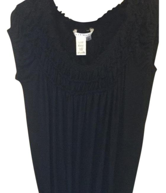 Preload https://item2.tradesy.com/images/max-studio-black-cute-gathered-in-blouse-size-10-m-23756196-0-1.jpg?width=400&height=650