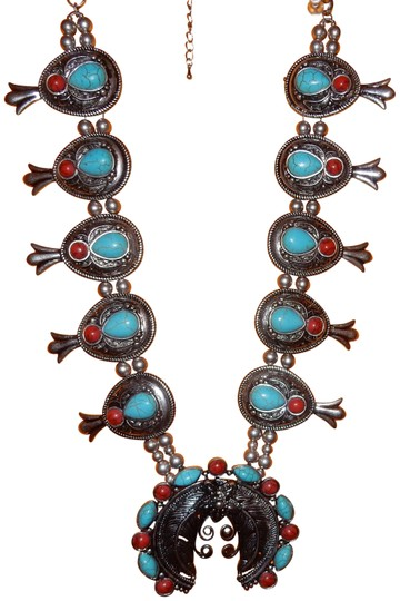 Preload https://item3.tradesy.com/images/silver-and-turquoise-20in-red-beads-necklace-23756197-0-1.jpg?width=440&height=440