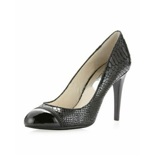 Preload https://item5.tradesy.com/images/michael-michael-kors-black-leather-cynthia-mixed-media-python-exposed-zipper-cap-toe-heels-formal-sh-23756209-0-1.jpg?width=440&height=440