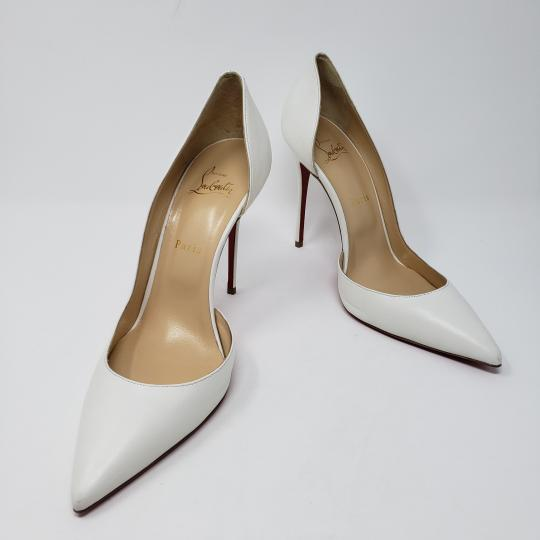 Christian Louboutin So Kate Pigalle Pointed Toe Patent Leather Iriza White Pumps