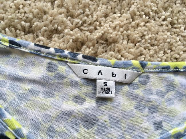 CAbi T Shirt Yellow, blue and white
