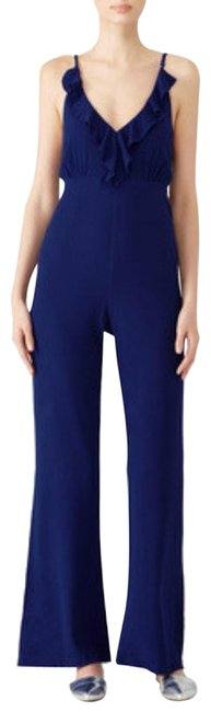Preload https://item2.tradesy.com/images/privacy-please-blue-ruffle-long-romperjumpsuit-size-12-l-23756336-0-1.jpg?width=400&height=650