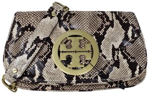 Tory Burch Snakeskin Chain Hardware Animal Print Reva Shoulder Bag