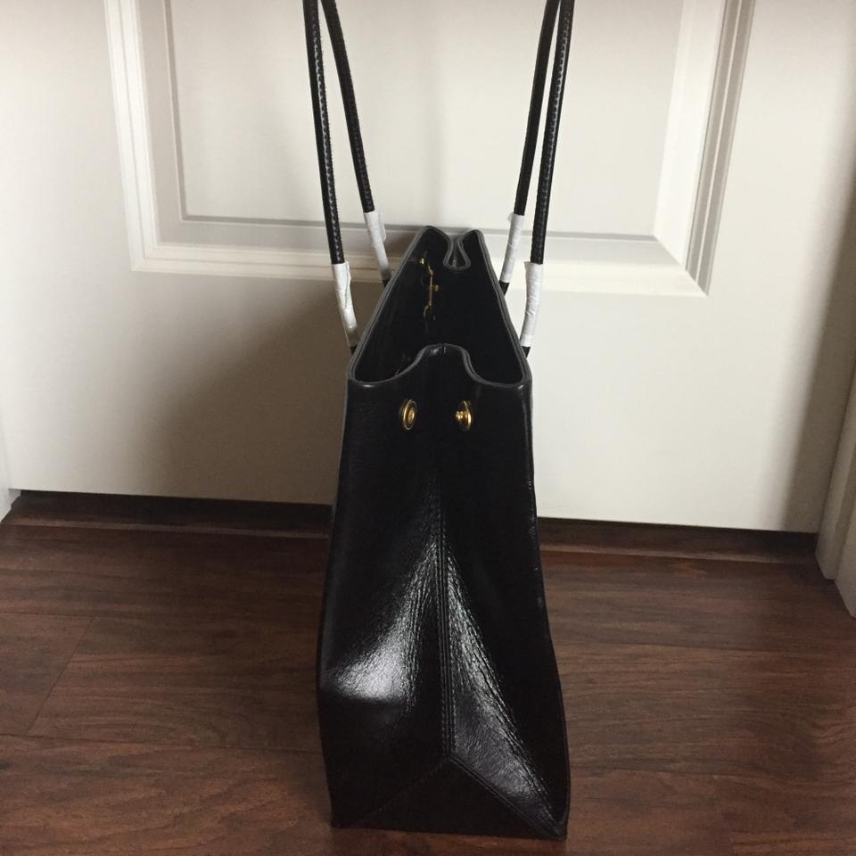 Black Lambskin Lambskin Tote Tote Moschino Leather Leather Black Moschino qHPfTwaqx