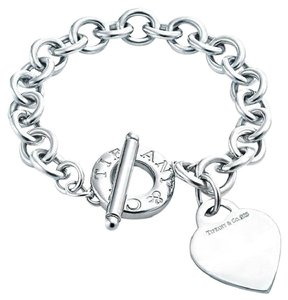 Tiffany & Co. TIFFANY & CO HEART TAG TOGGLE STERLING SILVER BRACELET