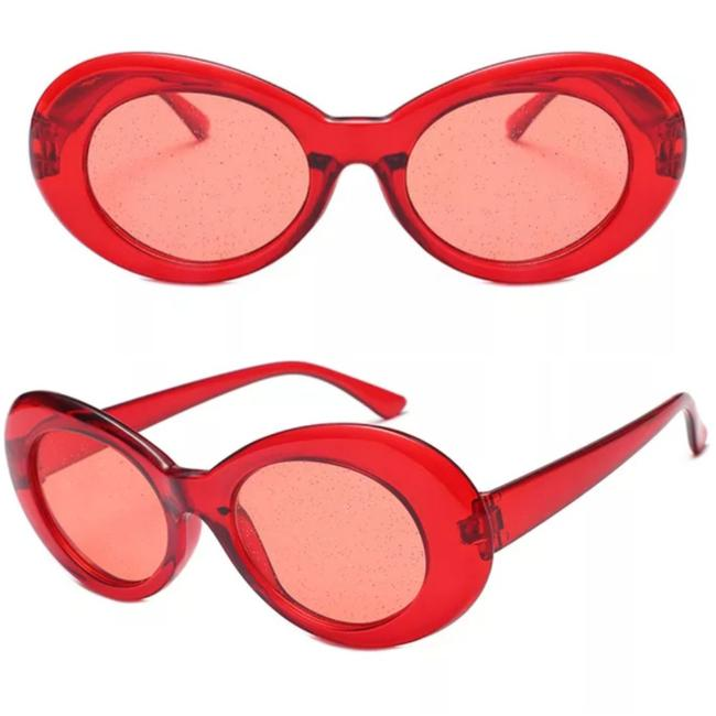 Item - ** Red/Red Fashion Glitter Lens Sunglasses
