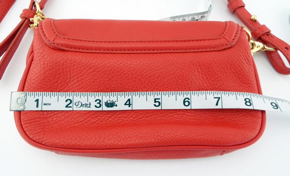 Tory Bag Logo Body Burch Leather Clutch Cross Purse Red rfxrwq8B7