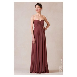 Jenny Yoo Hibiscus Mira Strapless Gown Feminine Bridesmaid/Mob Dress Size 6 (S)