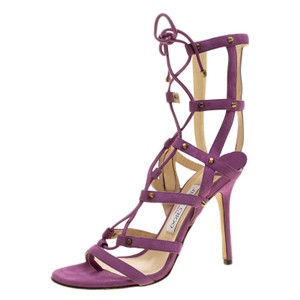 Jimmy Choo Suede Lace Purple Sandals