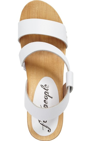Free People Sandals Beach Boho White Mules Image 2