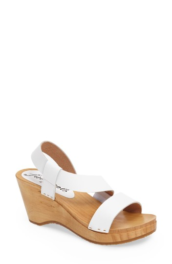 Free People Sandals Beach Boho White Mules Image 4