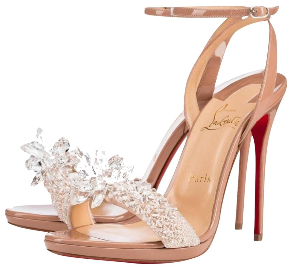 05abd674dd8 Christian Louboutin Nude Crystal Queen Patent Crystal Stiletto Pumps Size  EU 36 (Approx. US 6) Regular (M, B) 42% off retail