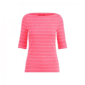 Ralph Lauren Ladies Lrl T Shirt Soft Pink/White