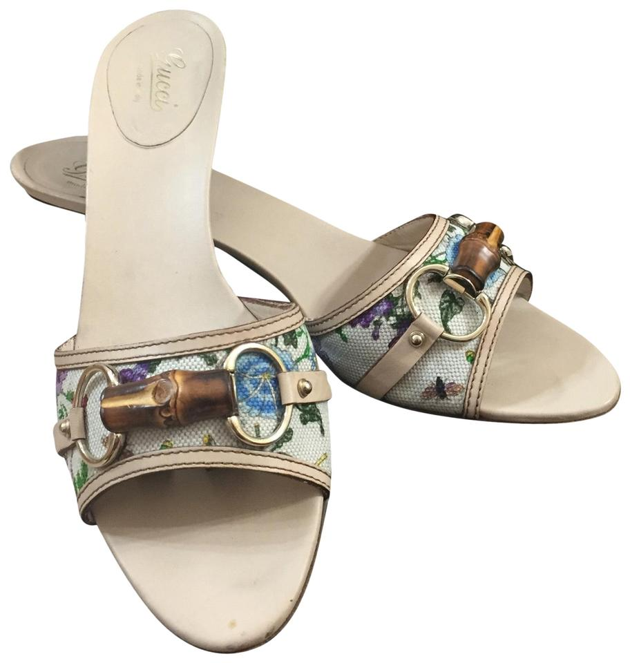 53747c2e7dd Gucci Trendy Floral Bamboo Sandals Mules Slides Size US 8.5 Wide (C ...