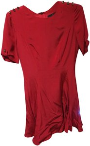 Misha Nonoo short dress red Imelda Skater Silk Pippa Middleton on Tradesy