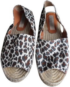 Stella McCartney Espadrille Leopard Canvas Eco Multi Sandals