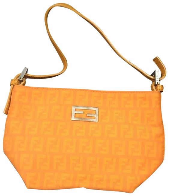 Item - Ff Monogram Orange Canvas Baguette