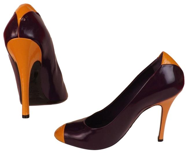 Marc Jacobs Purple Patent Leather Orange Cap Toe High Heel Classic Pumps Size EU 39 (Approx. US 9) Regular (M, B) Marc Jacobs Purple Patent Leather Orange Cap Toe High Heel Classic Pumps Size EU 39 (Approx. US 9) Regular (M, B) Image 1