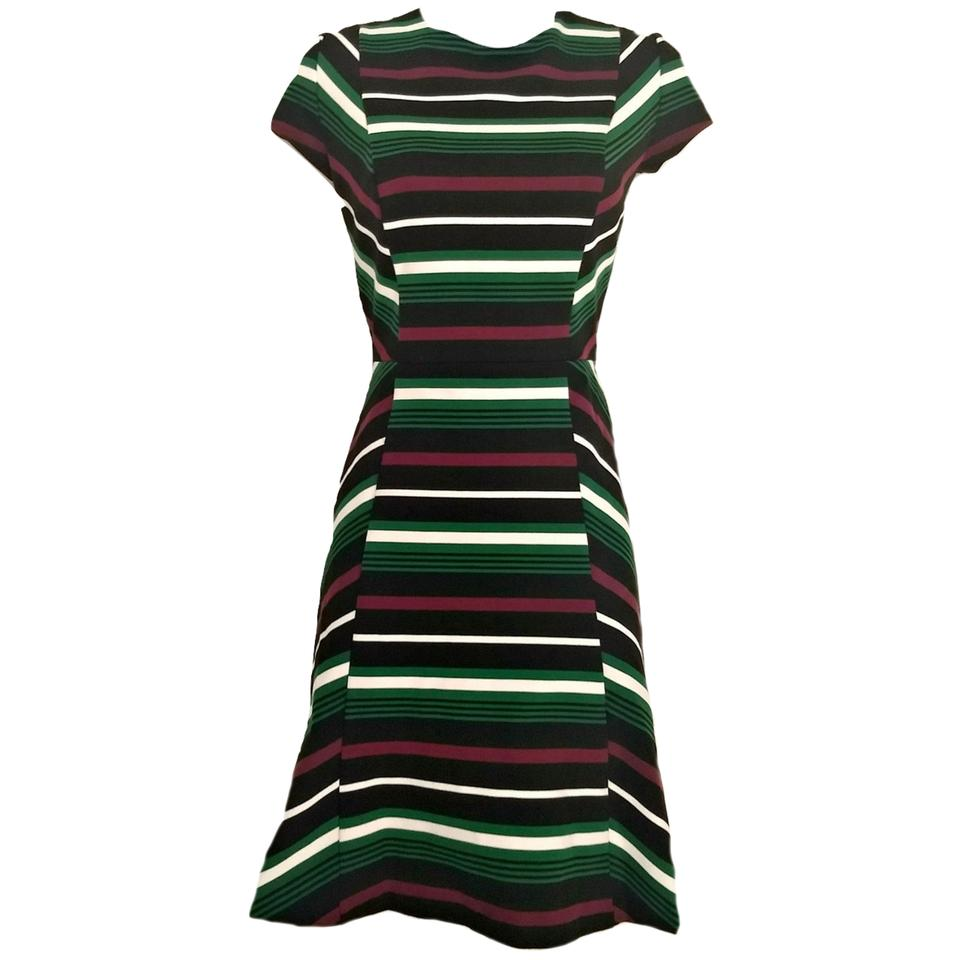 Michael Kors Striped Stripes Designer Skater Dress