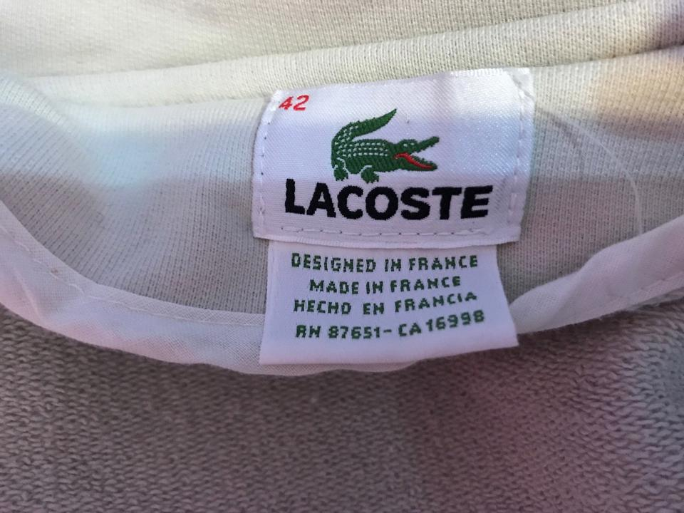 98d8899d844 Lacoste Sweatshirt Double Breasted Ivory Off White Jacket Image 3. 1234