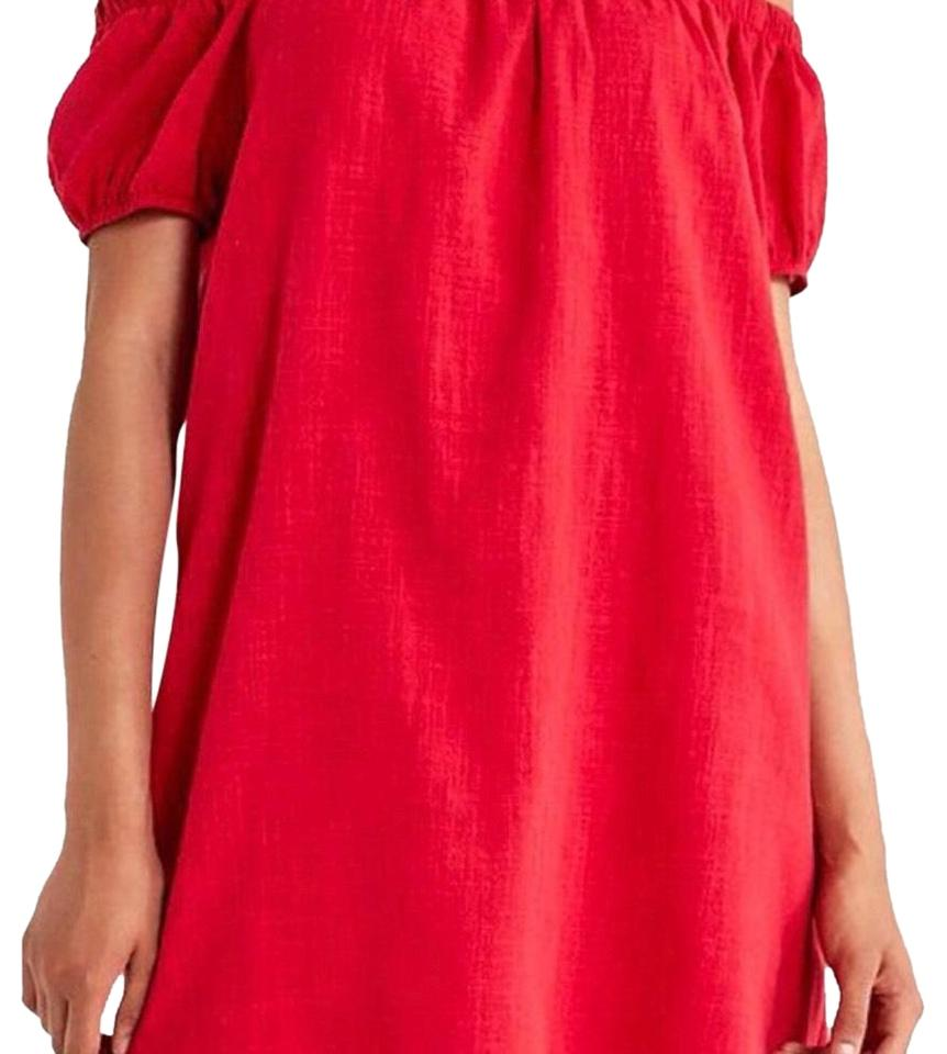 f097616bde27 Cooperative Raspberry Red Off Shoulder Mini Short Casual Dress Size ...