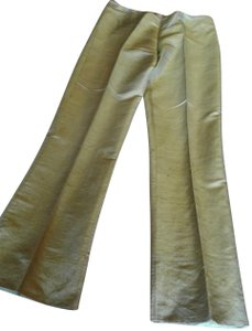 Romeo Gigli Solid Color Regular Fit Silk Made In Italy Trouser Pants Light green