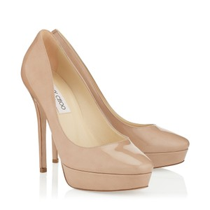 Jimmy Choo Classic Nude Platforms