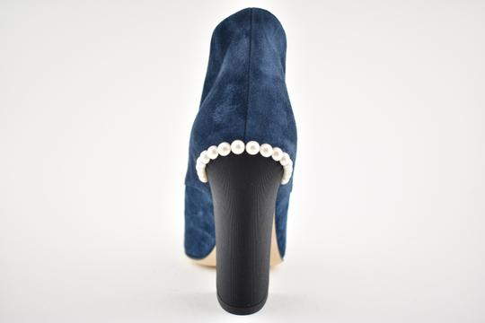 Chanel Stiletto Leather Ankle Pearl black Boots Image 9