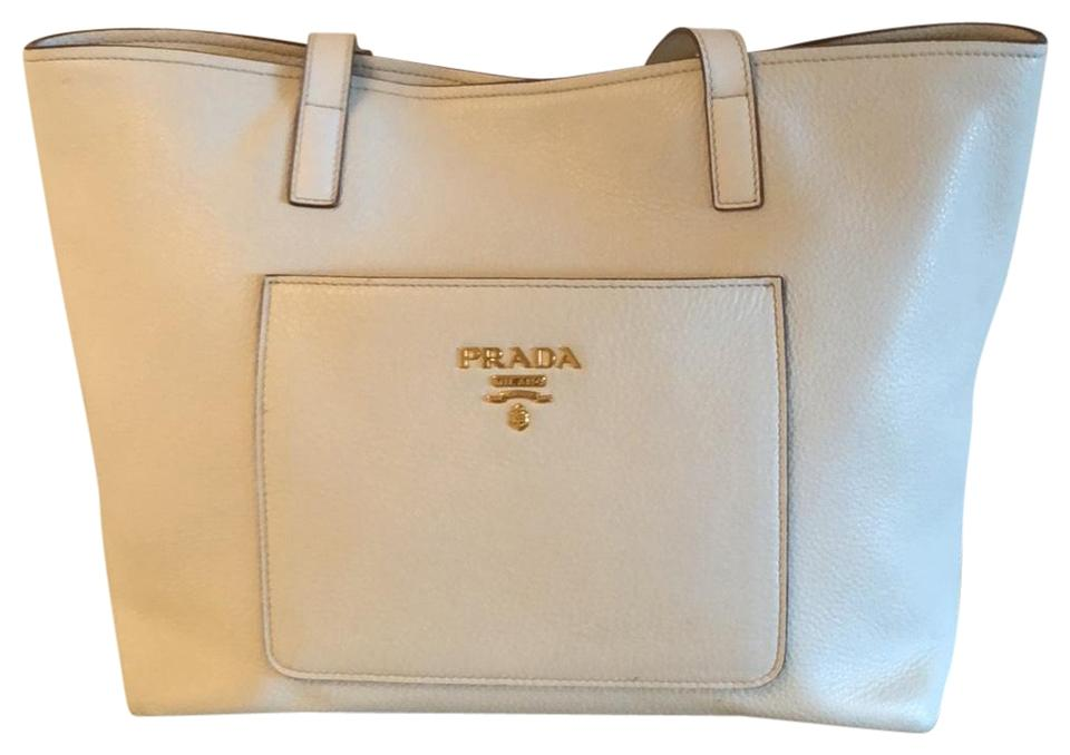 ab078846576b ... handbag dark gary reebonz vietnam 22f8a 85c24 greece prada pebble leather  shopper tote in white 898e5 8b52b ...