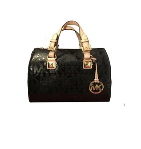 Michael Kors Leather Grayson Handbag Satchel in Black