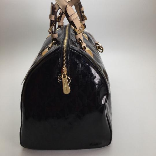 Michael Kors Leather Grayson Handbag Satchel in Black Image 2