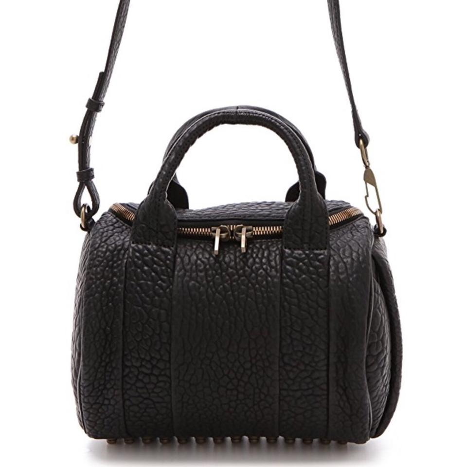 Leather Alexander Black Satchel Wang Rocco ttwOASq
