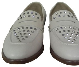 J.Crew Leather Upper Leather Linning Leather Soles Cream white Flats