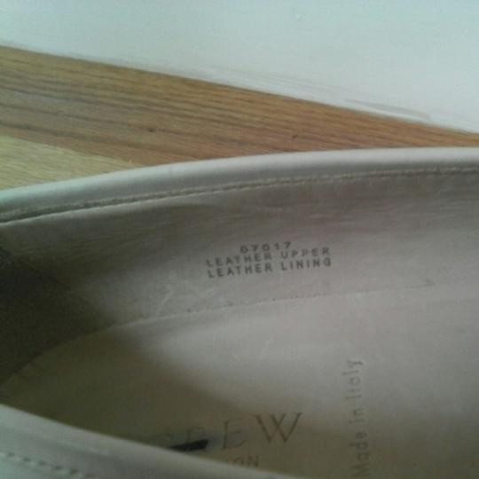 J.Crew Leather Upper Leather Linning Leather Soles Cream white Flats Image 1