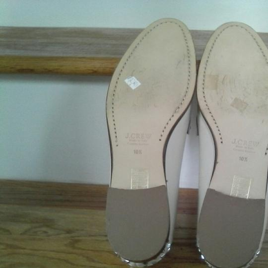 J.Crew Leather Upper Leather Linning Leather Soles Cream white Flats Image 3