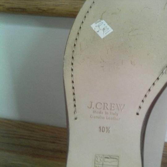 J.Crew Leather Upper Leather Linning Leather Soles Cream white Flats Image 4
