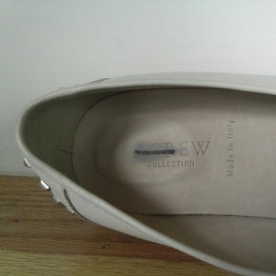 J.Crew Leather Upper Leather Linning Leather Soles Cream white Flats Image 5