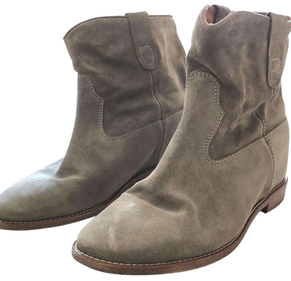 Isabel Marant Taupe Taupe Marant Crisi Velvet Boots/Booties 19454c