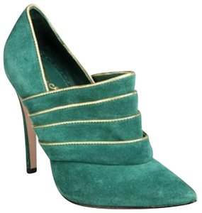 Alice + Olivia green & gold Boots