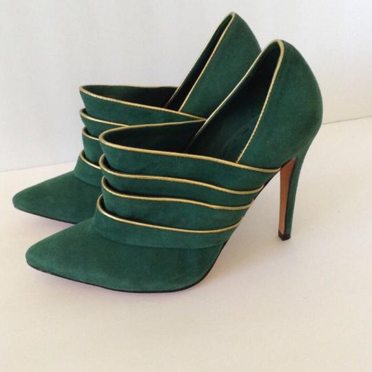 Alice + Olivia green & gold Boots Image 1
