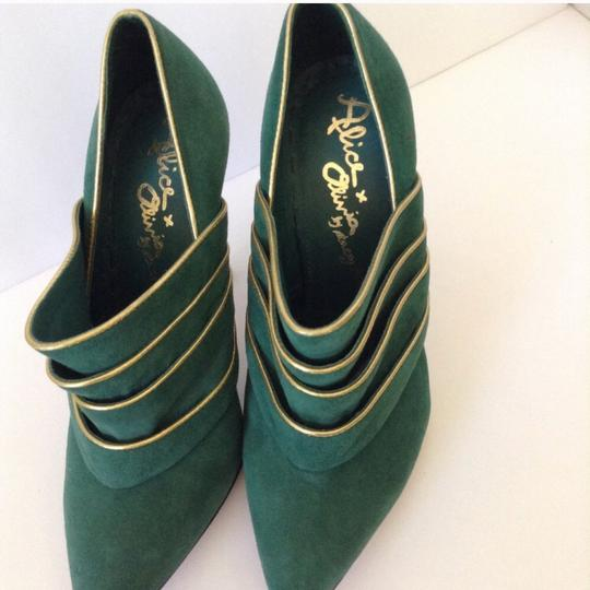 Alice + Olivia green & gold Boots Image 2