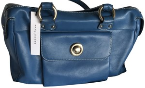 Marc Jacobs Leather Classic Satchel in Royal Blue