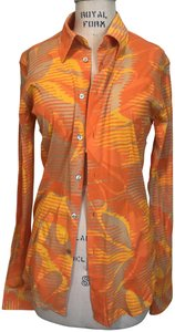 Custo Barcelona Button Down Shirt Orange