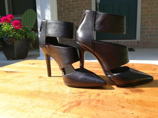 Jessica Simpson Zippered Wraparound Ankle Strap Pointed Toe Black Pumps Image 1