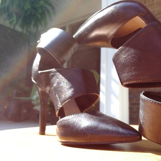 Jessica Simpson Zippered Wraparound Ankle Strap Pointed Toe Black Pumps Image 4