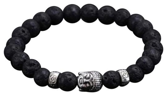 Preload https://img-static.tradesy.com/item/23759446/black-new-mens-buddha-lava-elastic-bracelet-0-1-540-540.jpg