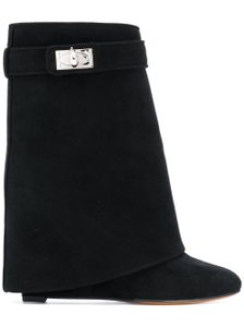 Givenchy Shark Lock Tooth Stiletto Midcalf black Boots