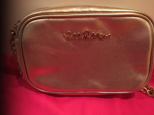 Lilly Pulitzer Chain Pebbled Leather Cross Body Bag Image 2