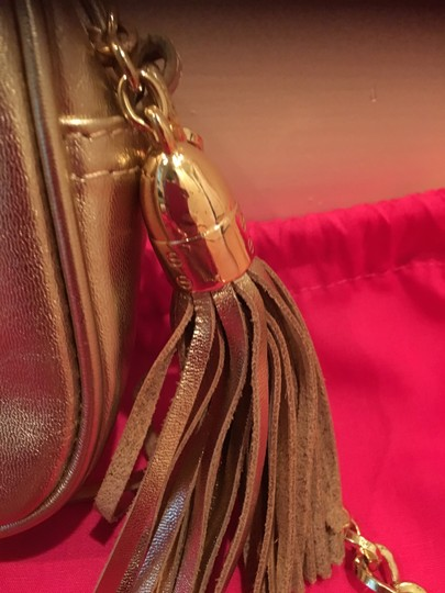 Lilly Pulitzer Chain Pebbled Leather Cross Body Bag Image 5