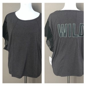 Free People Free People -- Wild Back Graphic Print Mesh Tee